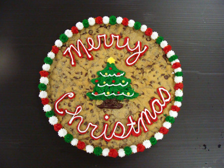 Merry Christmas Cookie Cake